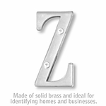 Salsbury 1240C-Z 3 Inch Solid Brass Letter Chrome Finish Z