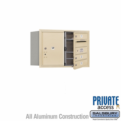 Salsbury 3705D-03SFP 4C Mailboxes 3 Tenant Doors Front Loading