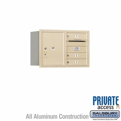 Salsbury 3705D-03SRP 4C Mailboxes 3 Tenant Doors Rear Loading