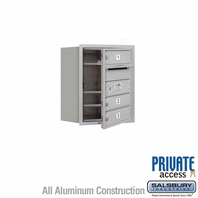 Salsbury 3705S-03AFP 4C Mailboxes 3 Tenant Doors Front Loading
