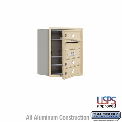 Salsbury 3705S-03SFU 4C Mailboxes 3 Tenant Doors Front Loading