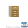 Salsbury 3705S-03GRP 4C Mailboxes 3 Tenant Doors Rear Loading