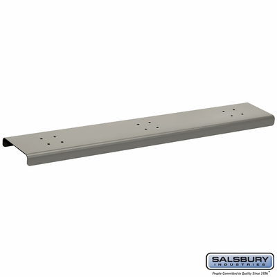 Salsbury 4383D-NIC 3 Wide Spreader For Designer Roadside Mailbox Nickel Finish