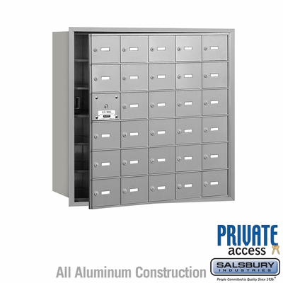 Salsbury 3630AFP 4B Mailboxes 29 Tenant Doors Front Loading - Private Access