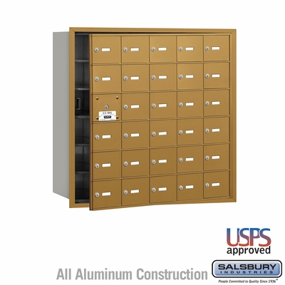 Salsbury 3630GFU 4B Mailboxes 29 Tenant Doors Front Loading - USPS Access