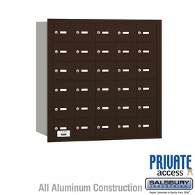 Salsbury 3630ZRP 4B Mailboxes 29 Tenant Doors Rear Loading - Private Access