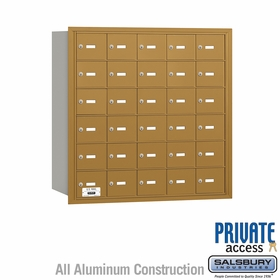 Salsbury 3630GRP 4B Mailboxes 29 Tenant Doors Rear Loading - Private Access