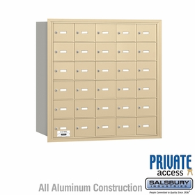 Salsbury 3630SRP 4B Mailboxes 29 Tenant Doors Rear Loading - Private Access