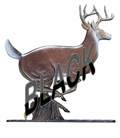 Whitehall Large Bell with Buck Ornament Black