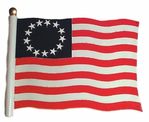 "Whitehall 30"" Traditional Directions FLAG (Liberty) Weathervane for Roof or Garden"