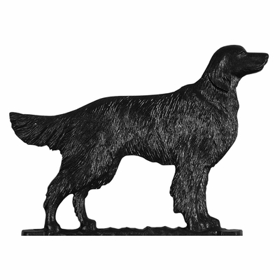 """Whitehall 30"""" Traditional Directions GOLDEN RETRIEVER Weathervane in Black for Roof or Garden"""