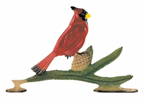 "Whitehall 30"" Traditional Directions Life-like MultiColor CARDINAL Weathervane for Roof or Garden"