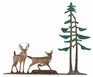 Whitehall 30 in. Traditional Directions Life-Like MultiColor DEER and PINES Weathervane for Roof or Garden