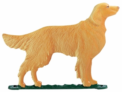 "Whitehall 30"" Traditional Directions Life-like MultiColor GOLDEN RETRIEVER Weathervane for Roof or Garden"