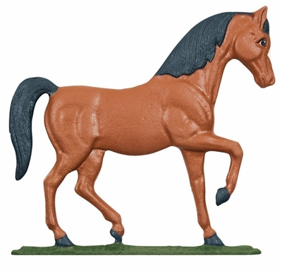 "Whitehall 30"" Traditional Directions Life-like MultiColor HORSE Weathervane for Roof or Garden"
