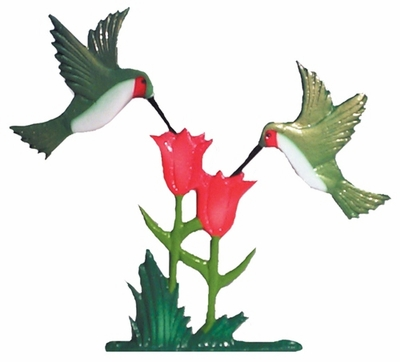 "Whitehall 30"" Traditional Directions Life-like MultiColor Hummingbirds Weathervane for Roof or Garden"