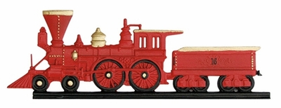 "Whitehall 30"" Traditional Directions Life-Like MultiColor LOCOMOTIVE Weathervane for Roof or Garden"