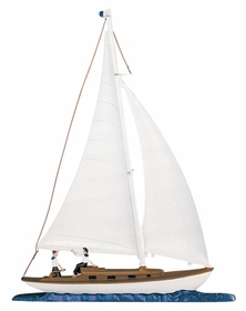 "Whitehall 30"" Traditional Directions Life-Like MultiColor Maritime SAILBOAT Weathervane for Roof or Garden"