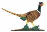 "Whitehall 30"" Traditional Directions Life-Like MultiColor PHEASANT Weathervane for Roof or Garden"