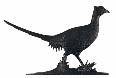 "Whitehall 30"" Traditional Directions PHEASANT Weathervane in Black for Roof or Garden"