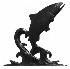 """Whitehall 30"""" Traditional Directions TROUT Weathervane in Black for Roof or Garden"""
