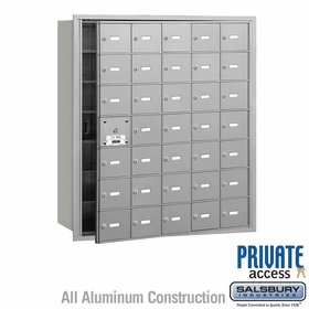 Salsbury 3635AFP 4B Mailboxes 34 Tenant Doors Front Loading - Private Access