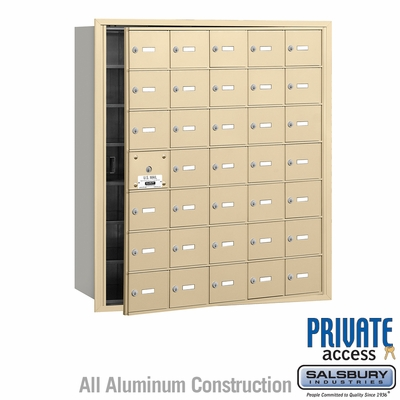 Salsbury 3635SFP 4B Mailboxes 34 Tenant Doors Front Loading - Private Access