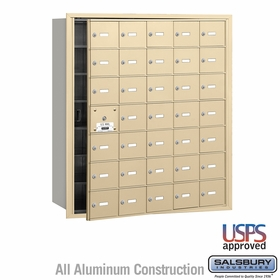 Salsbury 3635SFU 4B Mailboxes 34 Tenant Doors Front Loading - USPS Access