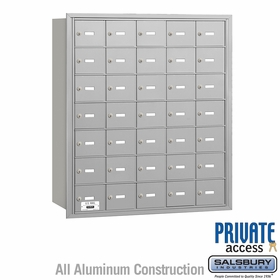 4B Mailboxes 35 Doors - Rear Loading - Private Use