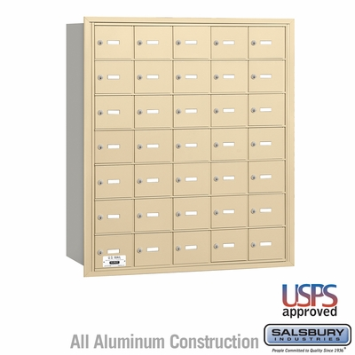 Salsbury 3635SRU 4B Mailboxes 34 Tenant Doors Rear Loading - USPS Access