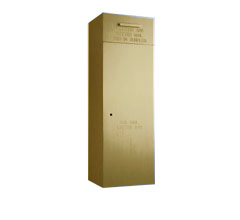 "Front Loading, Fully Recessed, Powdercoat Gold 36"" High Mail Collection Drop Box"