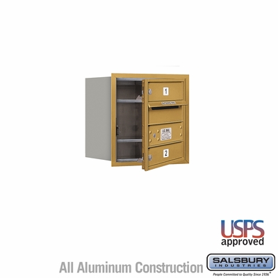Salsbury 3704S-02GFU 4C Mailboxes 2 Tenant Doors Front Loading