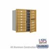 Salsbury 3708D-14GFU 4C Mailboxes 14 Tenant Doors Front Loading