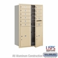 Salsbury 3712D-10SFU 4C Mailboxes 10 Tenant Doors Front Loading