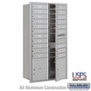 4C Horizontal Mailbox - Maximum Height Unit (56 3/4 Inches) - Double Column - 19 MB1 Doors / 2 PL's - Aluminum - Front Loading - USPS Access