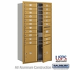 4C Horizontal Mailbox - Maximum Height Unit (56 3/4 Inches) - Double Column - 19 MB1 Doors / 2 PL's - Gold - Front Loading - USPS Access