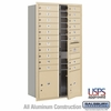4C Horizontal Mailbox - Maximum Height Unit (56 3/4 Inches) - Double Column - 19 MB1 Doors / 2 PL's - Sandstone - Front Loading - USPS Access