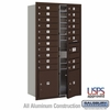 4C Horizontal Mailbox - Maximum Height Unit (56 3/4 Inches) - Double Column - 19 MB1 Doors / 2 PL's - Bronze - Front Loading - USPS Access