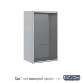 Salsbury 3808S-ALM Surface Mounted Enclosure - for 3608 Single Column Unit - Aluminum
