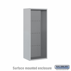 Salsbury 3810S-ALM Surface Mounted Enclosure - for 3710 Single Column Unit - Aluminum