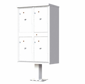 4 Door Parcel Locker Cluster Mailbox - White