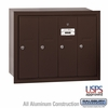 Salsbury 3504ZRU 4 Door Vertical Mailbox Bronze Finish Recessed Mounted USPS Access