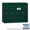 Salsbury 3504GSP 4 Door Vertical Mailbox Green Surface Mounted Private Access