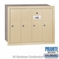 Salsbury 3504SRP 4 Door Vertical Mailbox Sandstone Recessed Mounted Private Access