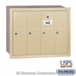 Salsbury 3504SRU 4 Door Vertical Mailbox Sandstone Recessed Mounted USPS Access