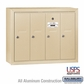 Salsbury 3504SSU 4 Door Vertical Mailbox Sandstone Surface Mounted USPS Access