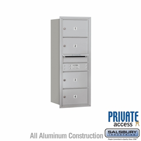 4 Doors - Medium-Size Doors - Rear Loading Private 4C Mailbox
