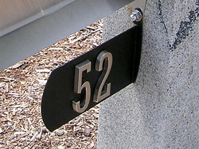 4 Inch Adhesive Address Numbers (sold per number) with Optional Plaque