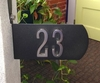 Two-Sided Address Plate with 4 Inch Address Numbers (up to 5)