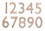 4 Inch Cast Brass House Numbers (0-9)